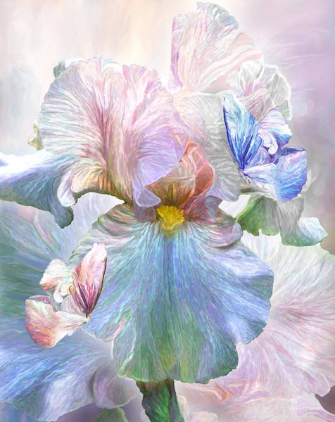Mixed Media - Iris - Goddess Of Serenity by Carol Cavalaris