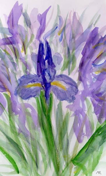 Fleur De Lys Painting - Iris I by Michelle Reeve