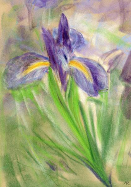 Fleur De Lys Painting - Iris II by Michelle Reeve