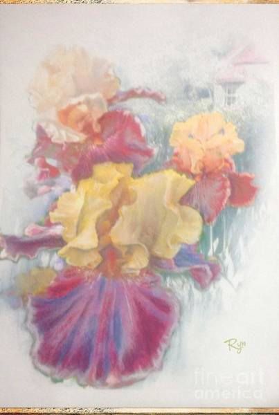 Painting - Iris In Cottage Garden by Ryn Shell