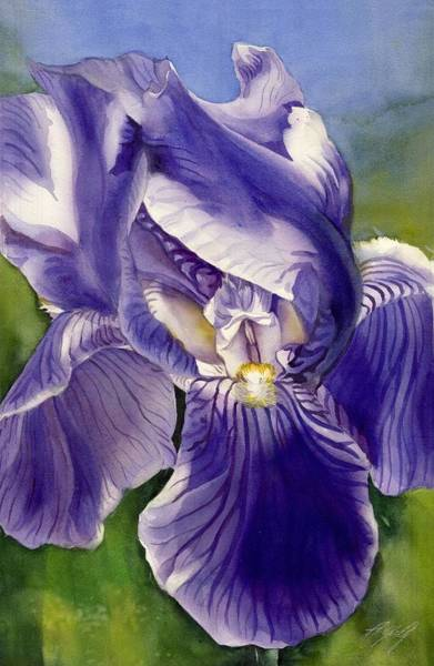 Painting - Iris In The Wind by Alfred Ng