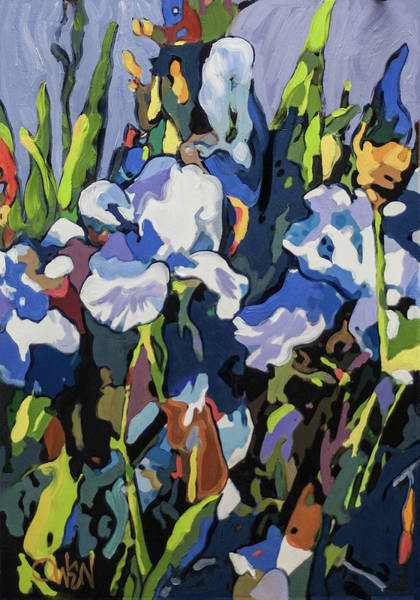 Painting - Iris, Late Afternoon by Rob Owen