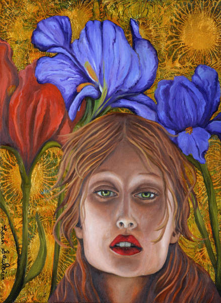 Painting - Iris by Leah Saulnier The Painting Maniac