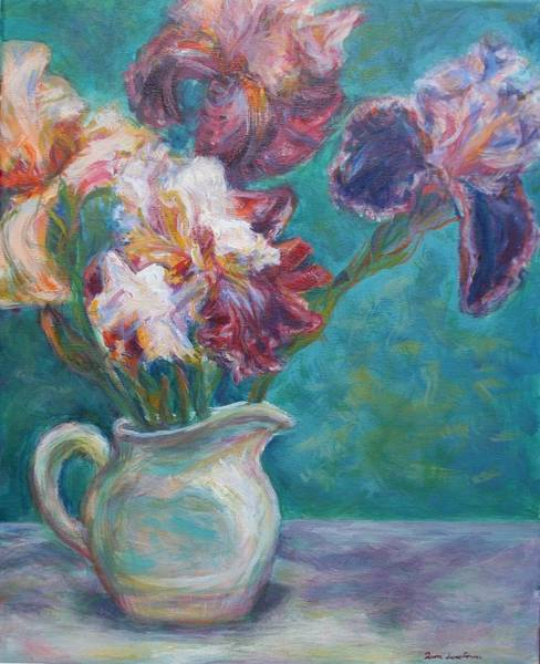 Painting - Iris Medley - Original Impressionist Painting by Quin Sweetman