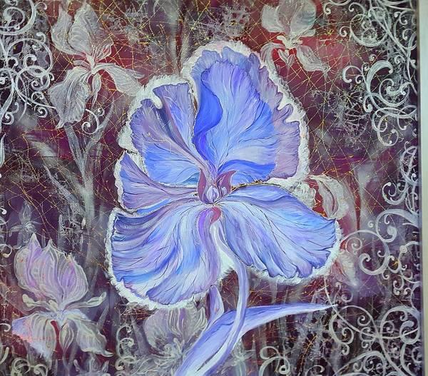Acrilic Painting - Iris by Natali Sokolova