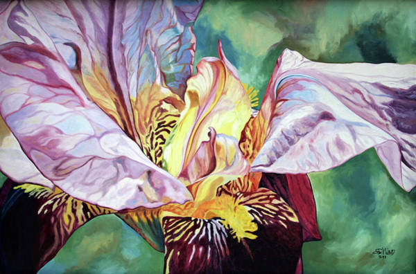 Painting - Iris Passion 1993 by Steven Ward