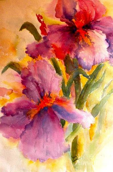 Painting - Iris Twins by Patsy Walton