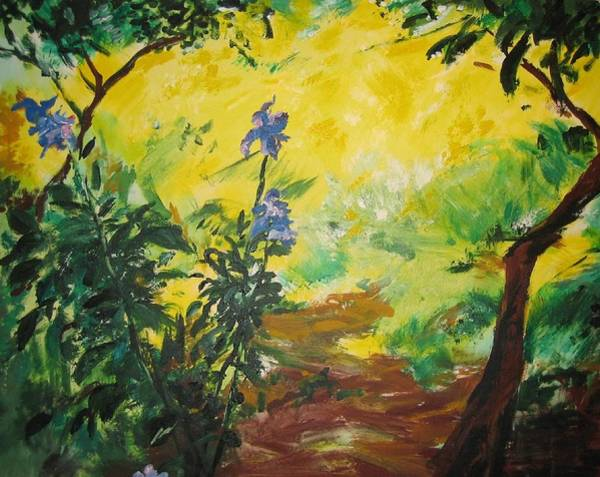 Ish Wall Art - Painting - Irises  And Sunlight by Lizzy Forrester