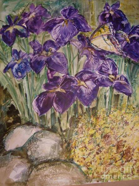 Painting - Irises In A Field by Deborah Nell