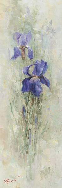 Russian Impressionism Wall Art - Painting - Irises In The Garden by Oleg Trofimoff