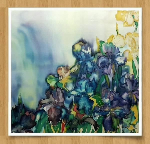 Acrilic Painting - Irises by Natali Sokolova