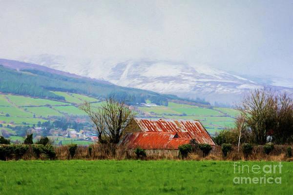 Digital Art - Irish Barn by Les Palenik