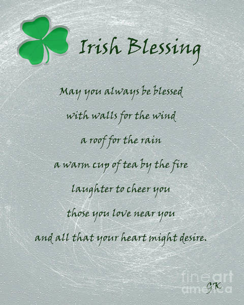 Mixed Media - Irish Blessing by Gerlinde Keating - Galleria GK Keating Associates Inc