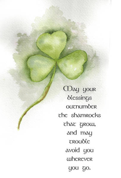St Patricks Painting - Irish Blessing by Nancy Ingersoll