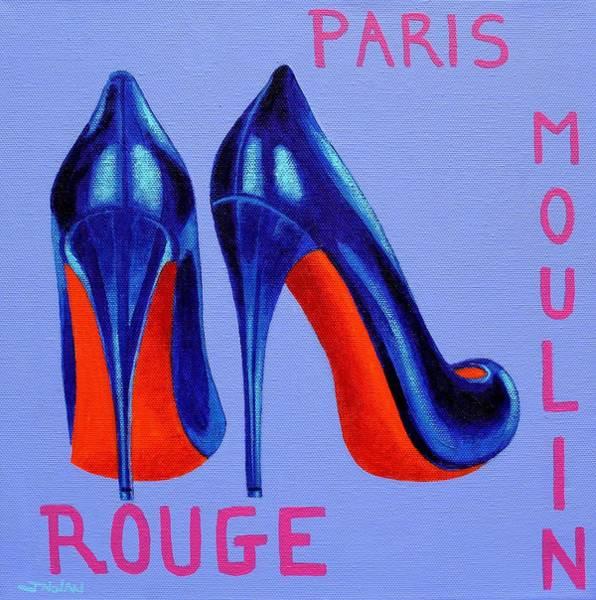 Boa Painting - Irish Burlesque Shoes by John  Nolan