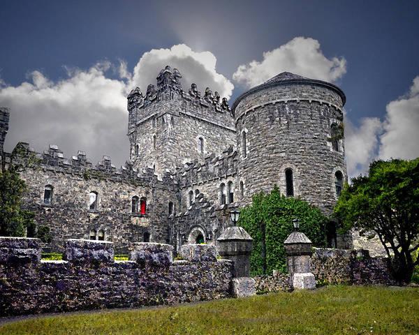 Donegal Digital Art - Irish Castle by Vicki Lea Eggen