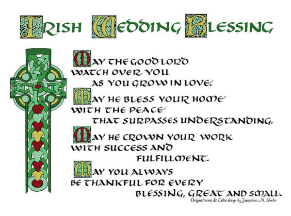 Irish Celtic Wedding Blessing Art Print