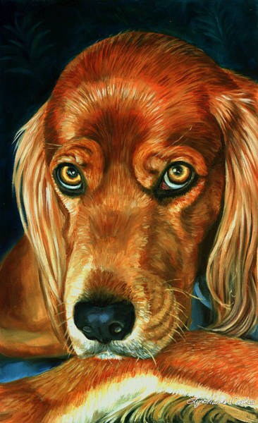 Wall Art - Painting - Irish Eyes - Irish Setter by Lyn Cook