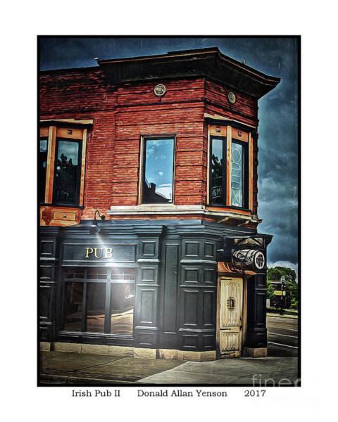 Mount Clemens Photograph - Irish Pub II by Donald Yenson