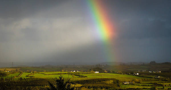 Photograph - Irish Rainbow And Sunbeams by James Truett