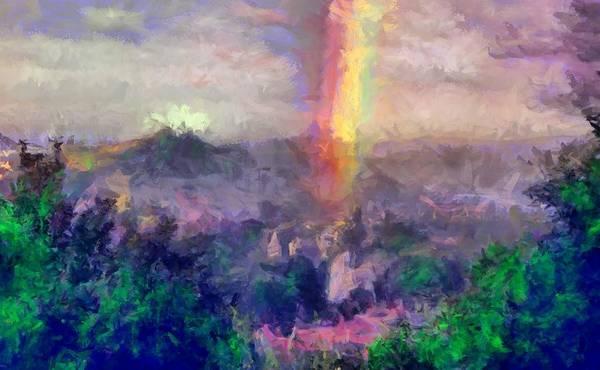 Digital Art - Irish Rainbow by Caito Junqueira