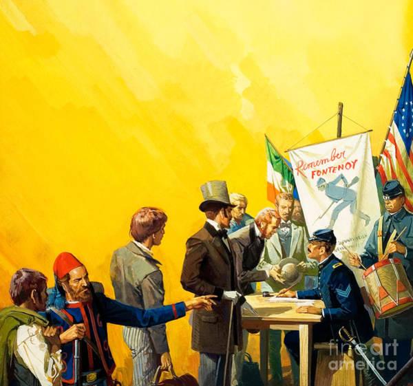 Recruitment Painting - Irish Recruitment For The American Civil War by Severino Baraldi