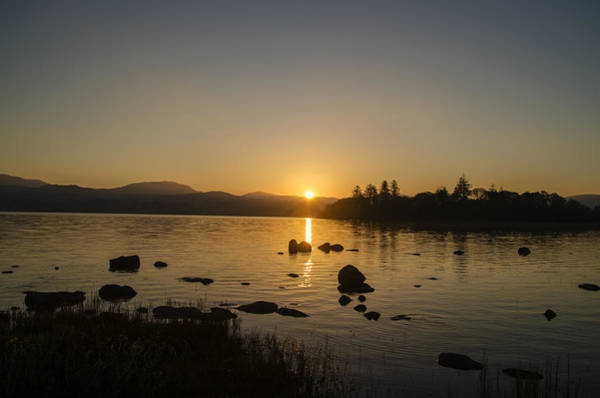 Wall Art - Photograph - Irish Sunrise - Lough Eske County Donegal  by Bill Cannon