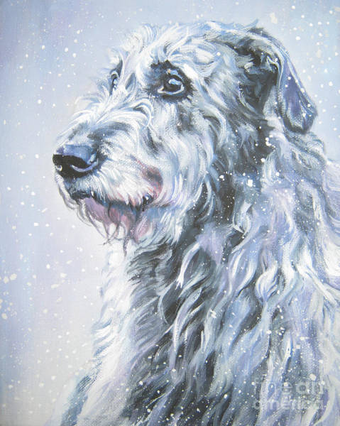 Wall Art - Painting - Irish Wolfhound In Snow by Lee Ann Shepard