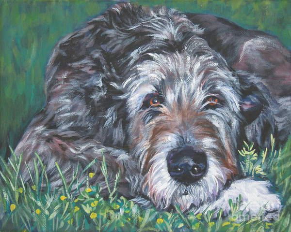 Ireland Painting - Irish Wolfhound by Lee Ann Shepard