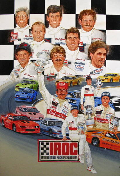 Painting - Iroc Racing by Cliff Spohn