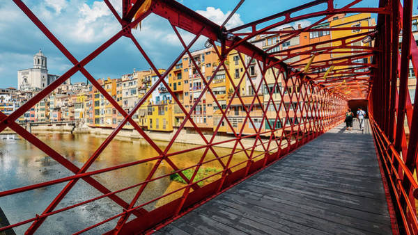 Photograph - Iron Bridge In Girona, Catalonia, Spain by Alexandre Rotenberg