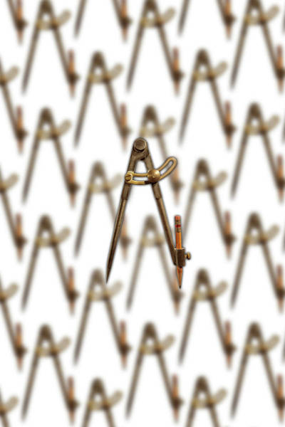 Drafting Photograph - Iron Compass Pattern by YoPedro