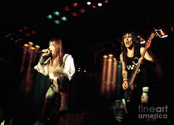 Chris Walter Wall Art - Photograph - Iron Maiden 1987 Bruce And Steve by Chris Walter