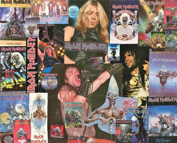Wall Art - Digital Art - Iron Maiden Collage 1 by Doug Siegel