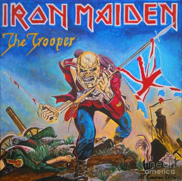 Iron Maiden Wall Art - Painting - Iron Maiden by Neal Crossan