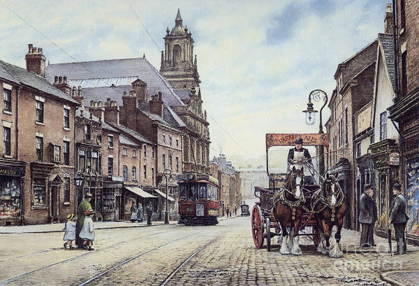 Wall Art - Painting - Iron Market St. Newcastle by Anthony Forster