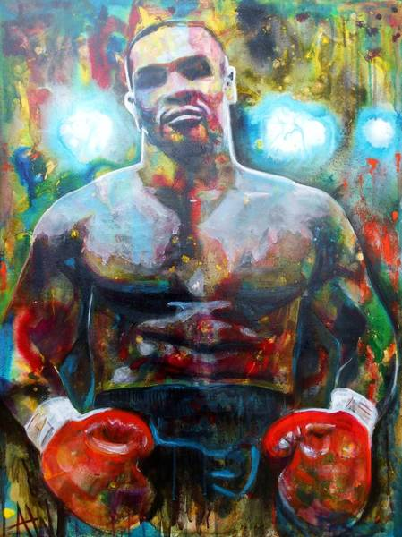 Boxing Painting - Iron Mike by Angie Wright