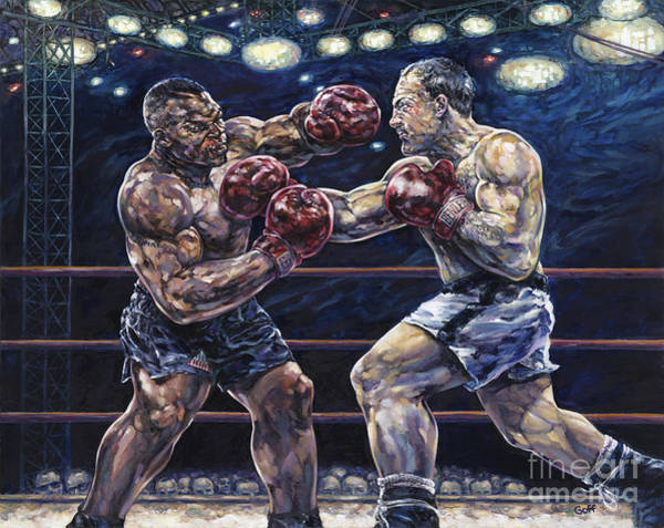 Boxing Painting - Iron Mike Vs. Rocky by Dennis Goff
