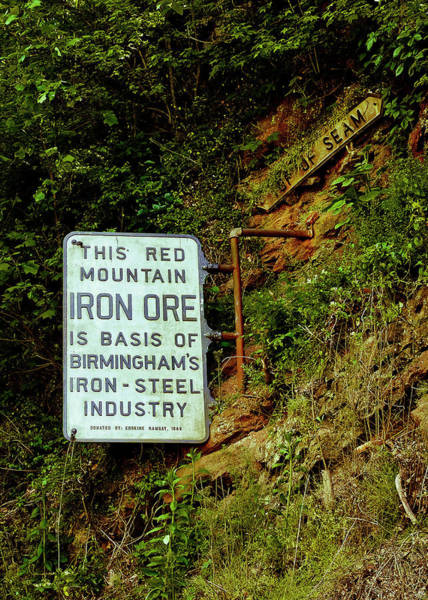 Photograph - Iron Ore Seam Marker by Just Birmingham
