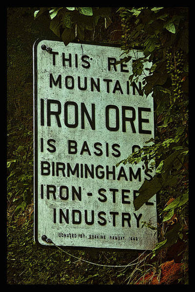 Photograph - Iron Ore Seam Poster by Just Birmingham