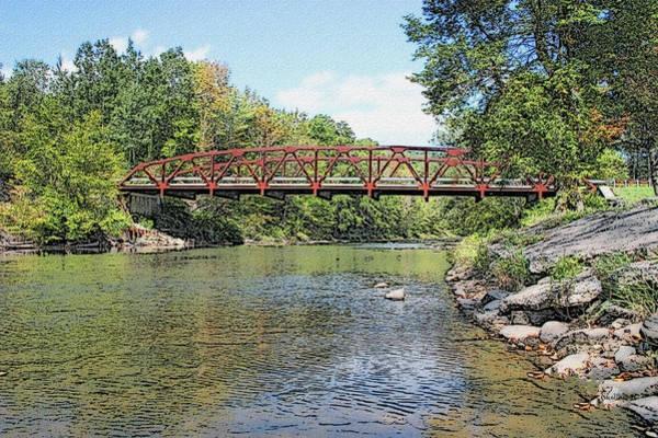 Photograph - Iron Rail Bridge - Sullivan County Ny by Ericamaxine Price