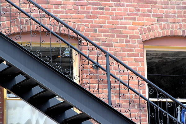 Photograph - Iron Stairs On Brick Building In Colorado by Colleen Cornelius