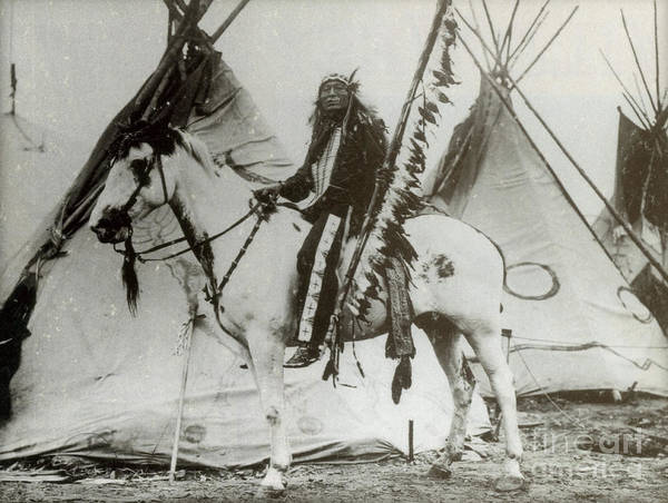 Photograph - Iron Tail Sioux Chief Early 1900s by Photo Researchers