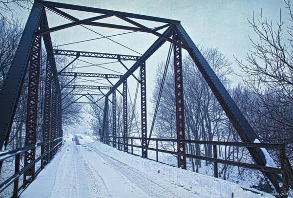 Photograph - Iron Truss Bridge In Snow by Anna Louise
