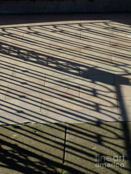 Photograph - Ironfenceshadowdiag by Mary Kobet
