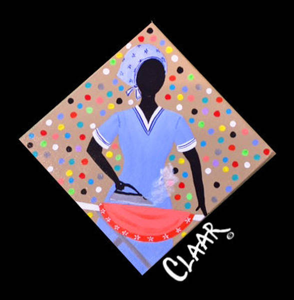 Gullah People Wall Art - Painting - Ironing Day I  by Samantha Claar
