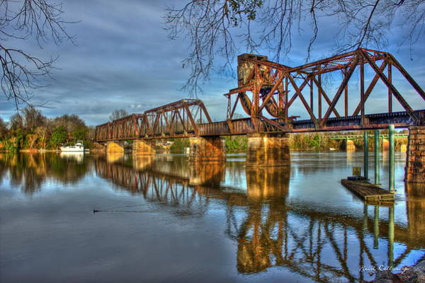 Photograph - Ironman Reflections 6th Street Trestle Bridge Augusta Georgia Art by Reid Callaway