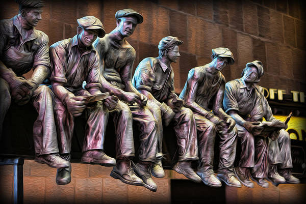 Wall Art - Photograph - Ironworkers Having Lunch II by Lee Dos Santos