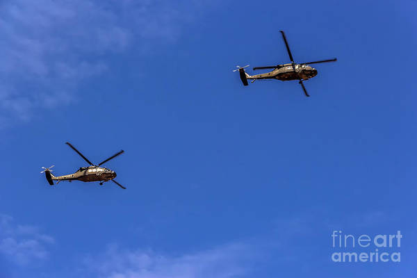 Photograph - Iroquois Helicopters In The Blue by Jon Burch Photography