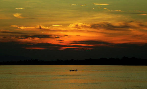 Photograph - Irrawaddy River Sunset, Myanmar by Kurt Van Wagner
